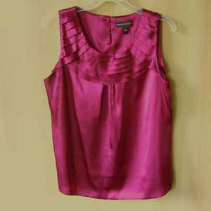 Crimson Wine Red Sleeveless Top L Dana Buchman